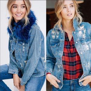 ⚡️The Blue Fur Jean Jacket